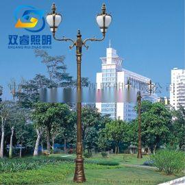欧式双头庭院灯别墅铝制欧式景观灯厂家定制庭院灯