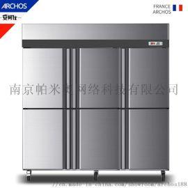 风冷六门冰箱 无霜商用六门冰箱 进口压缩机风冷冰箱