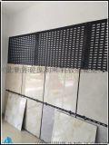 瓷砖冲孔板展架 黑色展示架