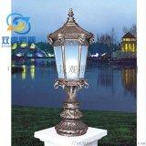 掃古銅柱頭燈定製戶外草坪燈鋁製歐式石墩柱頭燈