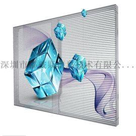 展现图文视频立体感强通透率高室内LED透明屏