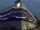 售楼中心立体山水画造型铝板,艺术门头山水画铝板