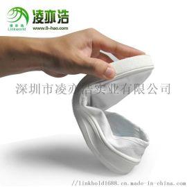 凌亦浩防静电工作鞋白/兰帆布低帮中巾鞋