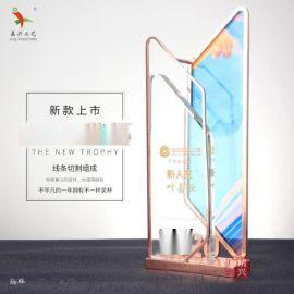 金属水晶奖牌 新人表彰奖牌 大气奢华