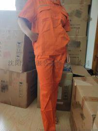 CVC面料70%棉30%涤的面料工作服 半袖劳保服
