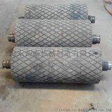 礦山皮帶機橡膠傳動滾筒廠家直銷