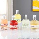 玻璃水果醋瓶加工定做蘋果醋玻璃瓶廠家