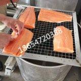 三文鱼冷熏设备-大型海产品烟熏入味炉子