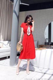 草叶集高端品牌女装尾货舒适透气真丝连衣裙一手货源