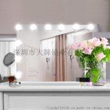 led好萊塢浴室鏡梳妝臺洗漱衛生間防霧浴室鏡