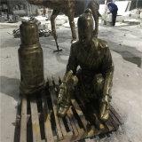 佛山玻璃钢仿铜人物雕塑公园休闲人物雕塑