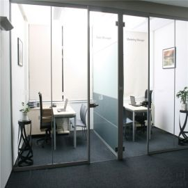 广州铝合金隔断,办公室隔断,双玻百叶隔断