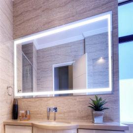 卫浴镜,百澜菲LED化妆镜,无框背光镜带防雾