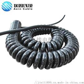 弹簧线 耐磨 耐寒 耐油 螺旋电缆,厂家直销