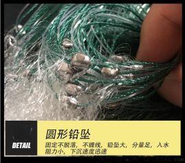 单层渔网2指3指沉网捕鱼网粘网丝网1.5m2米3m高 50m长鲫