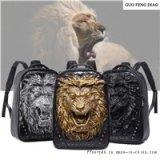 新款男士雙肩包大背包女創意歐美時尚學生書包潮牌個性搞怪獅子頭