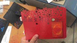 上海精细纸张激光切割加工贺卡激光镂空加工铜板纸