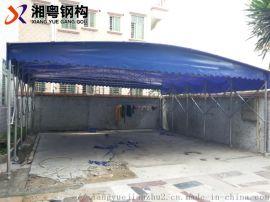 阳江汽车帆布移动遮阳棚推拉棚活动棚遮阳棚厂
