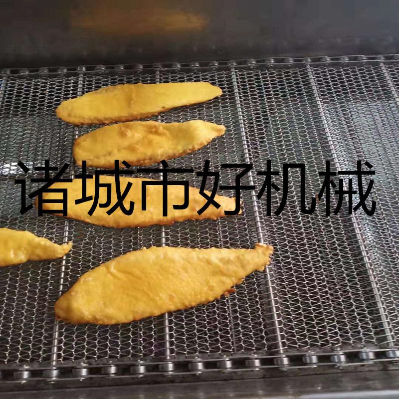 现货供应全自动鱼排油炸线 带鱼油炸机