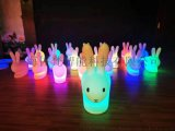 七彩中秋led發光兔子燈廣場公園調色玉兔燈