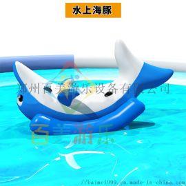 水上充气香蕉船水上滚筒水上乐园玩具多