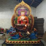 cd18彩绘地藏王菩萨佛像,玻璃钢地藏王定做厂家