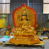 寺庙木雕西方三圣厂家 大型木雕西方三圣厂家