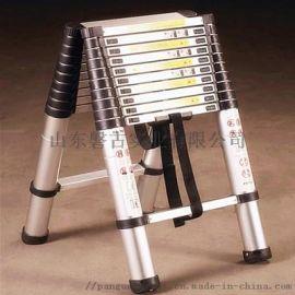 铝合金梯子-无关节双面伸缩梯