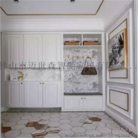 佛山美式整体衣柜 板式平开门 白蜡木卧室衣橱家具定制