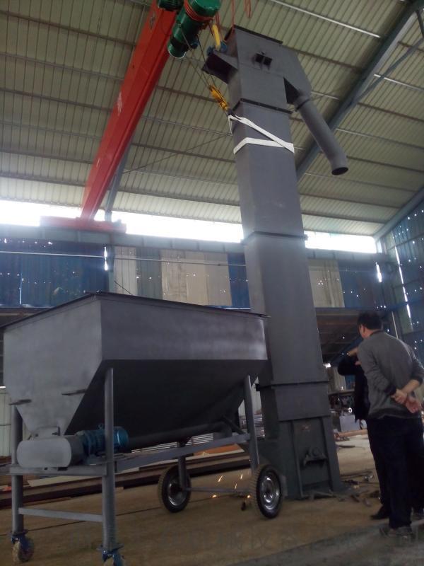 化肥颗粒垂直带式瓦斗提升机 六九热销不锈钢斗提机