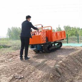 沃特农用8吨橡胶履带翻斗车 山地运输木材运输车