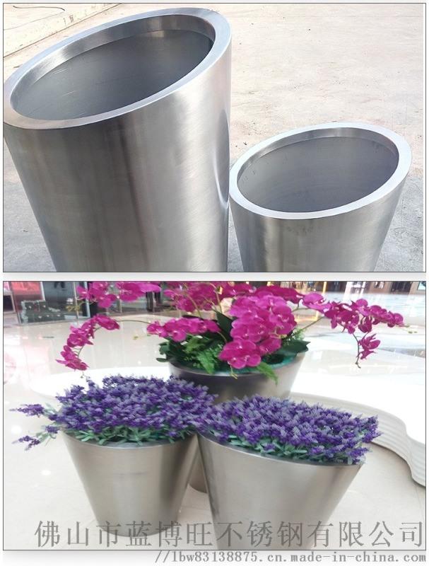 佛山市蓝博旺供应不锈钢拉丝花盆 不锈钢镜面花盆
