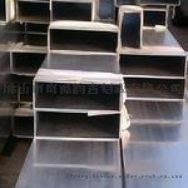 铝合金工业铝方管U型槽铝方通铝材