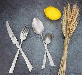 QD3184简约款不锈钢餐具刀叉匙茶匙
