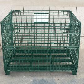 直堆式倉儲籠 折疊倉庫籠 噴塑蝴蝶籠 折疊鐵籠