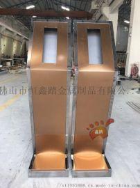 小區入戶不鏽鋼門禁機支座、不鏽鋼門口機立柱定制廠家