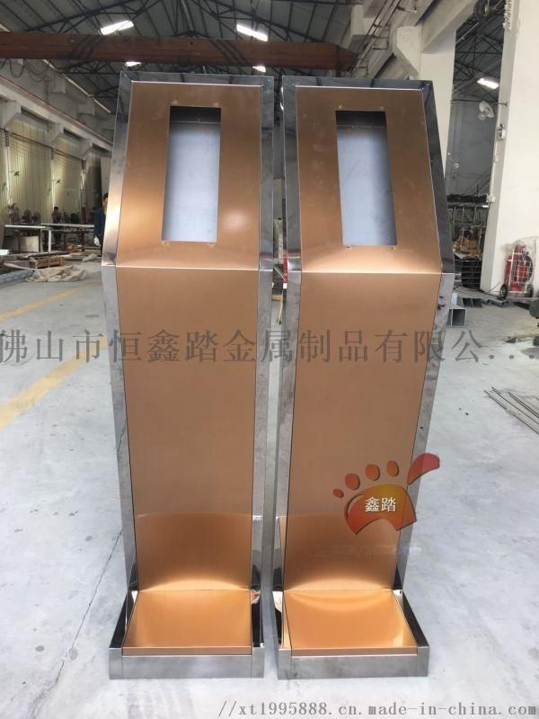 小區入戶不鏽鋼門禁機支座、不鏽鋼門口機立柱定製廠家