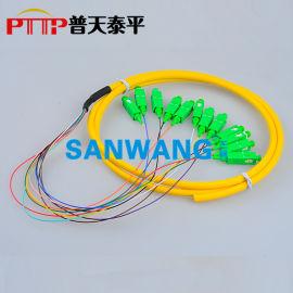 12芯(FC/PC)束状尾纤 12色光纤连接器
