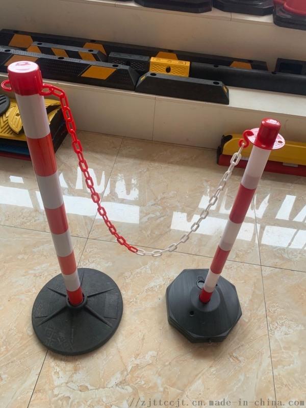 厂家直供 加重隔离围栏塑料挂链警示柱 停车场隔离桩