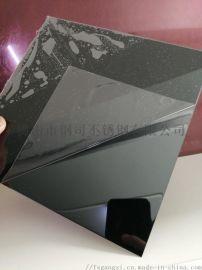 不锈钢水镀黑钛镜面板厂家 水镀不锈钢镜面黑钛板