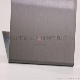 精端304彩色不锈钢板 高比发纹镀灰色