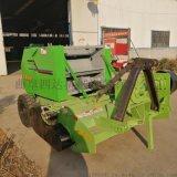 全自动玉米秸秆打捆机,饲草收集牵引式粉碎打捆机