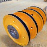 5t起重机铸钢滑轮组 钢丝绳吊装滑轮 热轧滑轮片