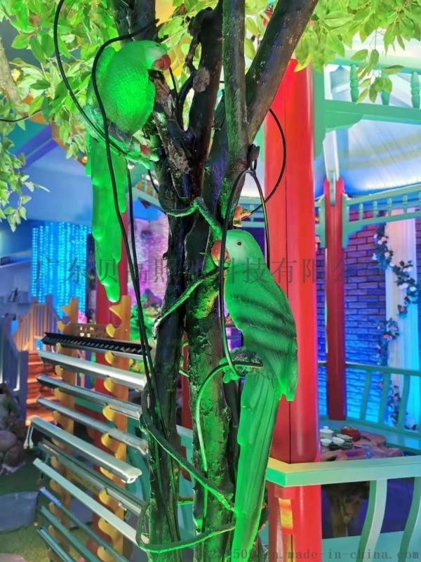 LED玻璃钢造型鸟+装饰品