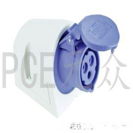 奥地利PCE品牌工业防水插座32A,原装进口