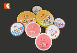 PP环保塑料雪糕杯盖 可定制尺寸及模内贴