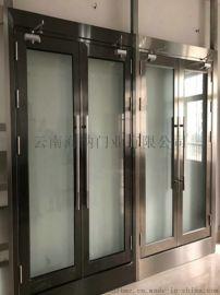 海纳门业厂家直销不锈钢防火玻璃门