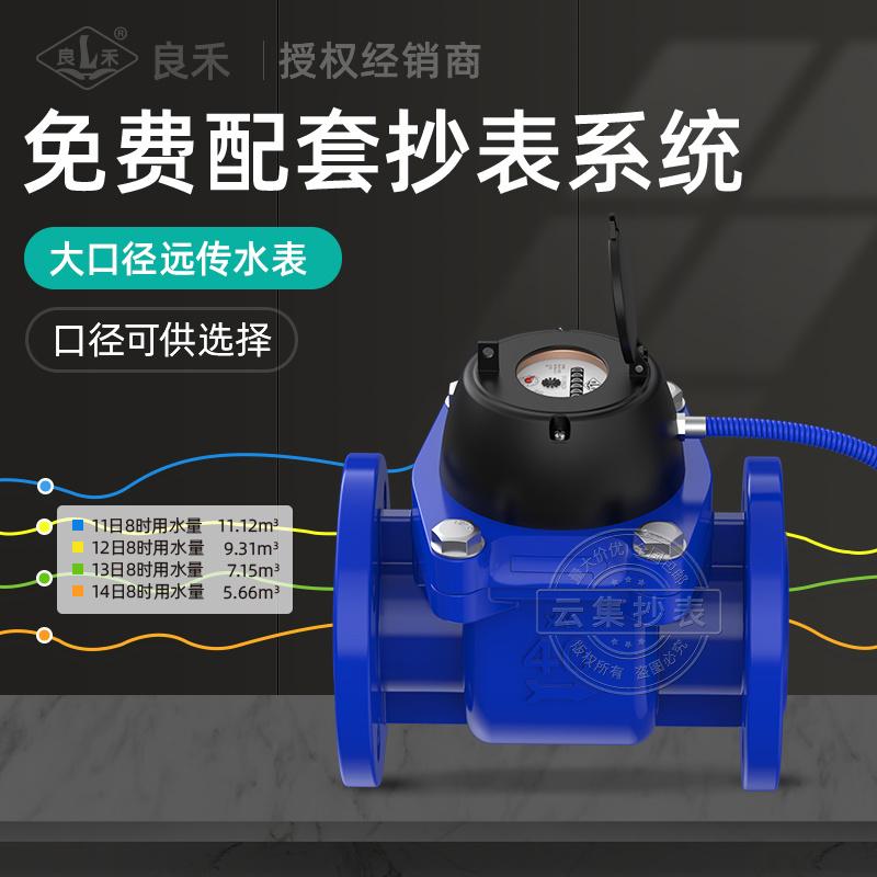 小區物業用良禾M-BUS大口徑遠傳水錶6寸