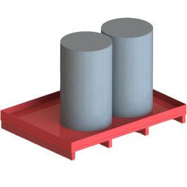 盛油托盘 带阀门防渗漏油桶托盘 金属油槽