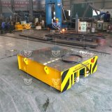 工业型电动转盘平板车厂房转运轨道车过跨平板车